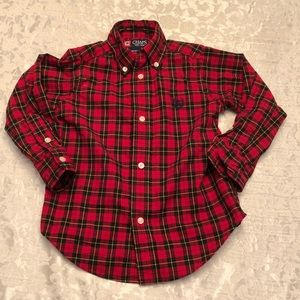 Chaps Red plaid toddler button down 3T